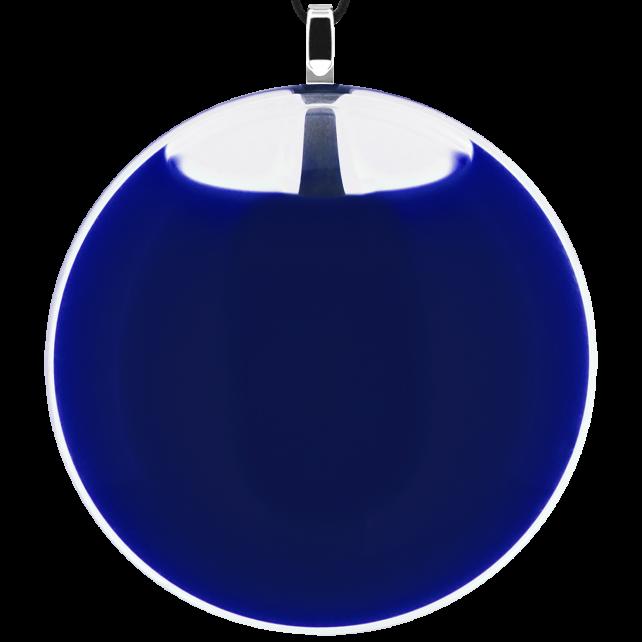 Necklace - Galet Giga Milk Dark Blue