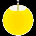 Pendentif en verre soufflé - Galet Giga Milk