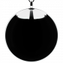 Necklace - Galet Giga Milk Lilas