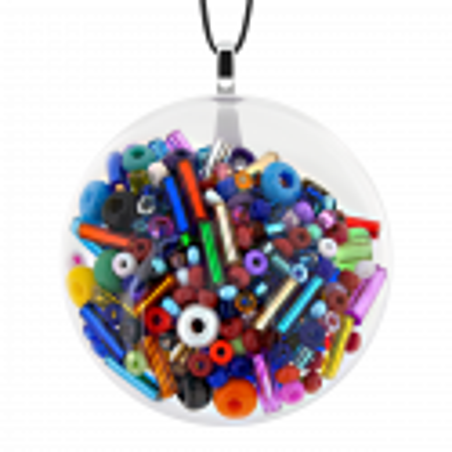 Necklace - Galet Medium Mix Perles