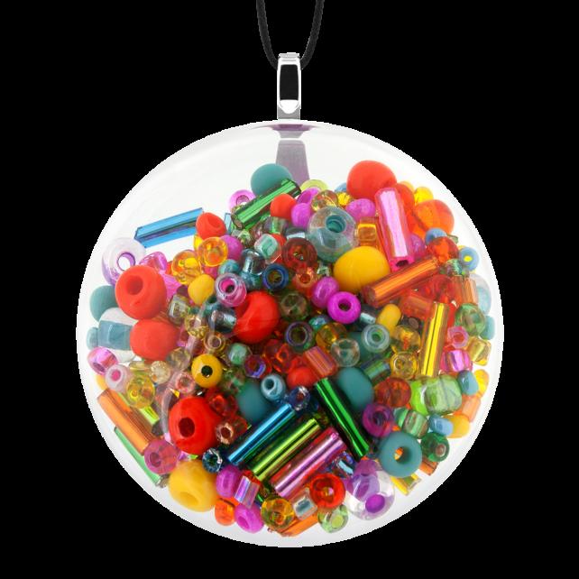 Kettenanhänger - Galet Medium Mix Perles