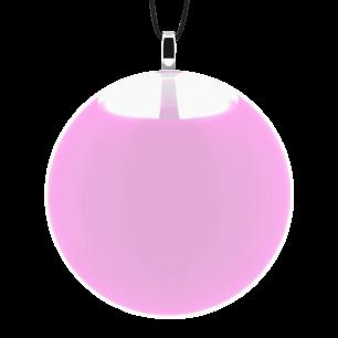 Pendentif en verre soufflé - Galet Medium Milk - Bubble Gum
