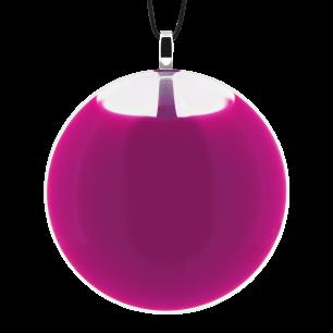Necklace - Galet Medium Milk - Fuchsia