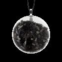Pendentif en verre soufflé - Galet Mini Paillettes