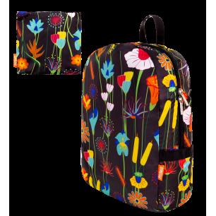 Faltbarer Rucksack - Pocket Bag - Jardin fleuri