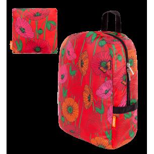 Faltbarer Rucksack - Pocket Bag - Coquelicots