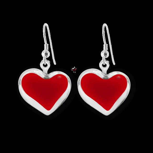 Hook earrings - Coeur Milk