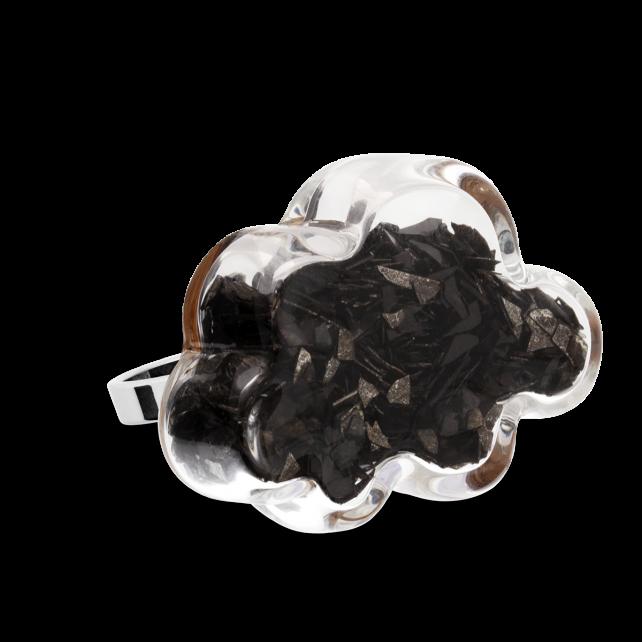 Glass ring - Nuage Medium Paillettes