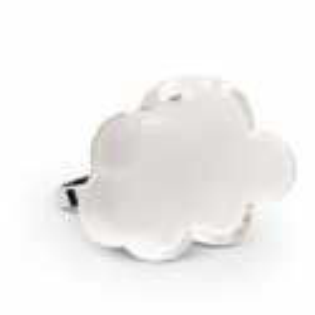 Anello in vetro - Nuage Medium Milk