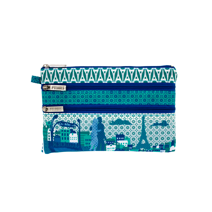 Zip My Town - Pochette 3 zips Paris
