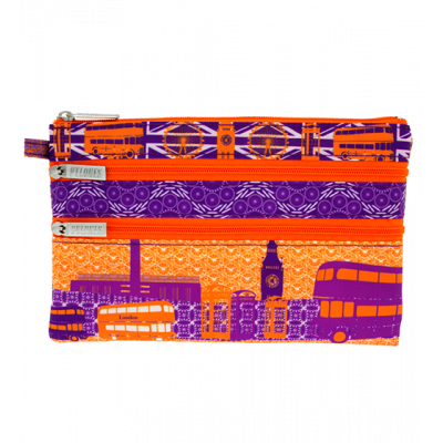 Pochette 3 zips - Zip My Town - London