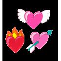 Happy Love - 3er-Set-Magnete