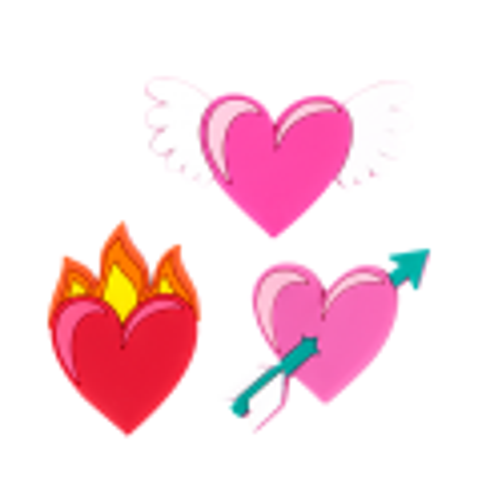 Happy Love - Set of 3 magnets