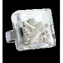 Carre Medium Mix Perles - Bague en verre