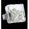 Carre Medium Mix Perles - Bague en verre Bianco