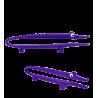 Mini Croc' - Petite pince à servir Violet