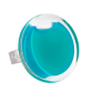 Bague en verre - Cachou Medium Milk