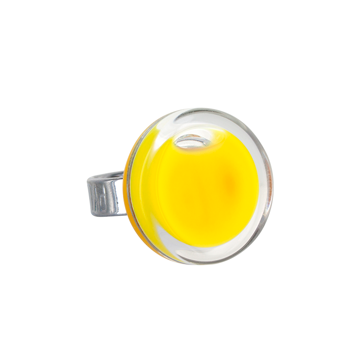 Cachou Mini Milk - Bague en verre Yellow