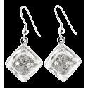 Hook earrings - Carré Paillettes