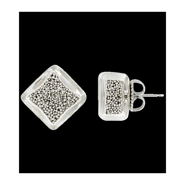 Stud earrings - Carré Billes