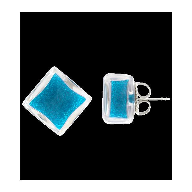 Carre Billes - Boucles d'oreilles clou Royal blue