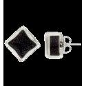 Stud earrings - Carré Billes Turquoise