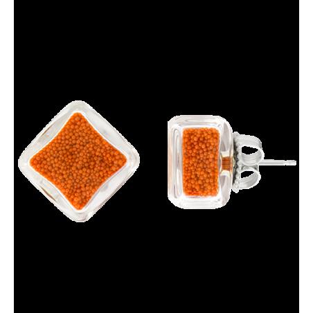 Carre Billes - Stud earrings Crystal