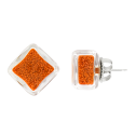 Carre Billes - Stud earrings Red
