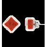 Carre Billes - Boucles d'oreilles clou Red