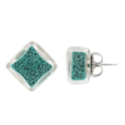 Stud earrings - Carré Billes Royal blue
