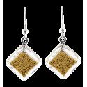 Losange Billes - Boucles d'oreilles crochet
