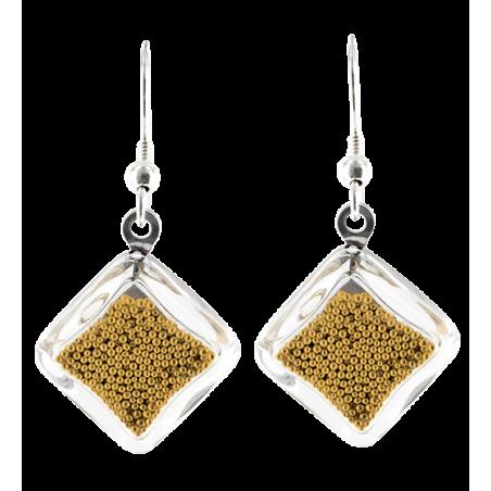 Hook earrings - Carré Billes