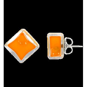 Carré Milk - Stud earrings