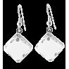 Losange Milk - Boucles d'oreilles crochet Blanc