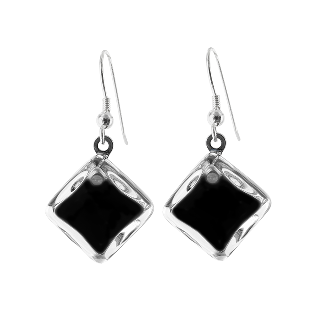 Hook earrings - Carré Milk
