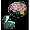 Haarbürste mit Spiegel 2 in 1 - Lady Retro Pear Flower