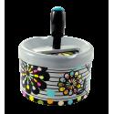 Push-button ashtray - Pousse Pousse Orchid