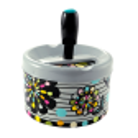 Push-button ashtray - Pousse Pousse White Flower