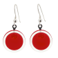Cachou Milk - Boucles d'oreilles crochet Dark red