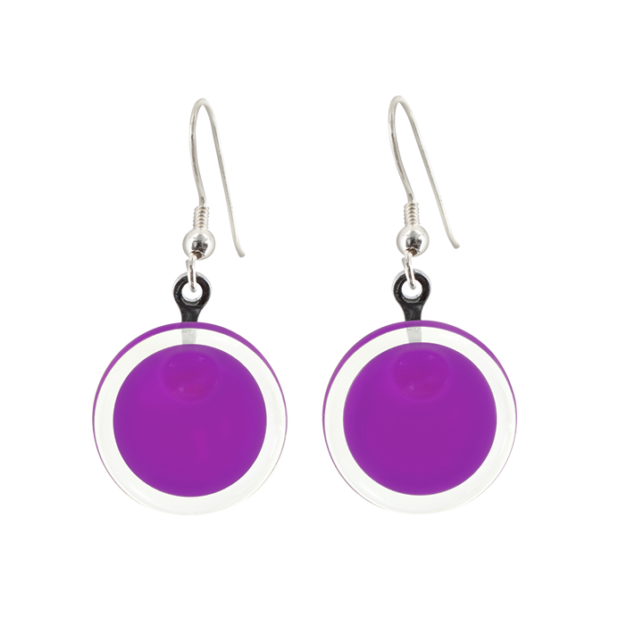 Cachou Milk - Boucles d'oreilles crochet Purple