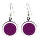 Cachou Milk - Boucles d'oreilles crochet Dark purple