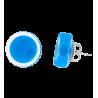 Cachou Milk - Boucles d'oreilles clou Bleu roi