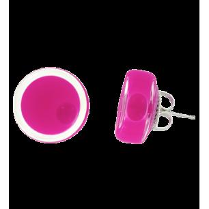 Boucles d'oreilles clou en verre soufflées - Cachou Milk