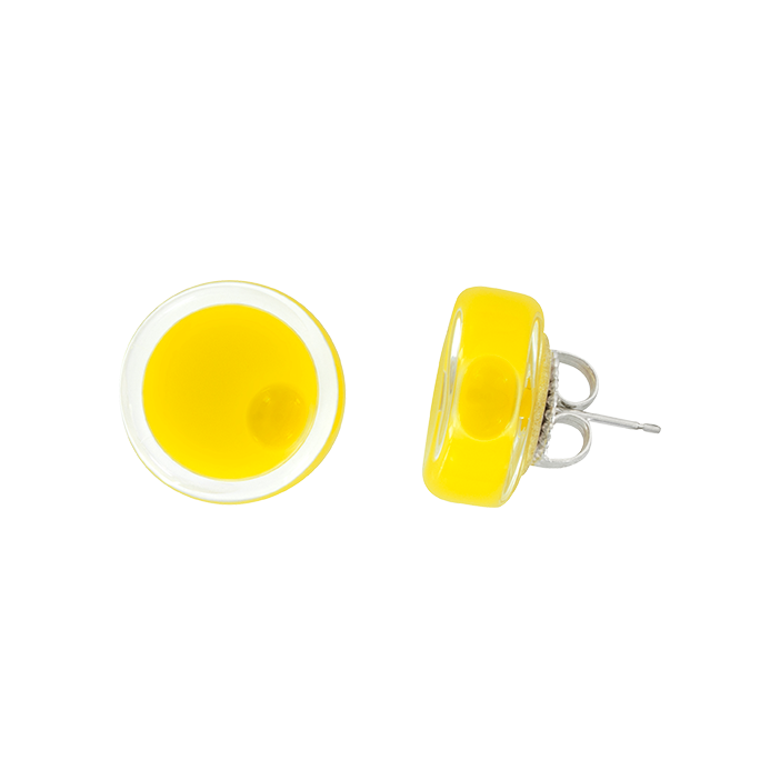 Cachou Milk - Boucles d'oreilles clou Yellow