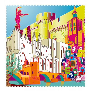 Tissu microfibre pour lunettes - Belle Vue City - Avignon