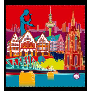 Tissu microfibre pour lunettes - Belle Vue City - Frankfurt