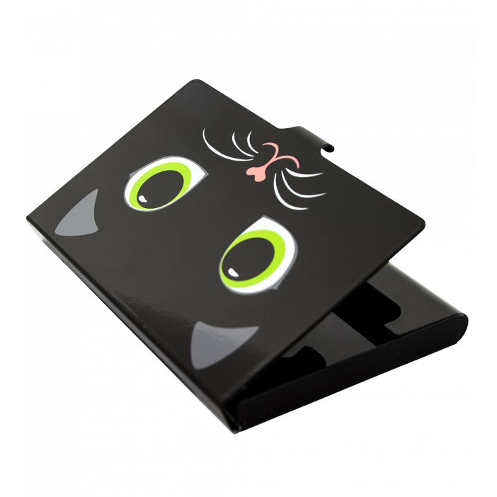 Busy business card holder cat pylones business card holder cat busy porte cartes de visite cat colourmoves Choice Image