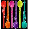 Set of 6 teaspoons - Swimming Spoon