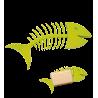 Fishbone Soap - Porte-savon Vert