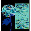 Halstuch - Balade Blue Flower